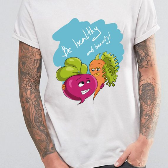 Be healthy and beauty! Tricou Alb Barbat