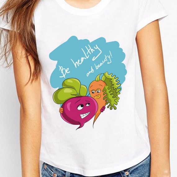 Be healthy and beauty! Tricou Alb Femeie