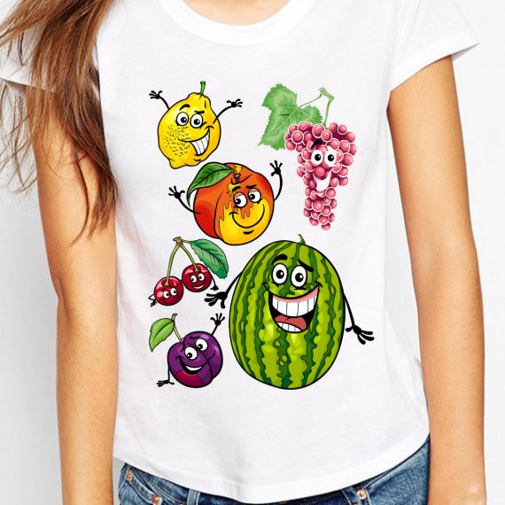 Happy Fruits Tricou Alb Femeie
