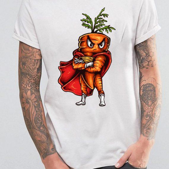 Super Carrot Tricou Alb Barbat