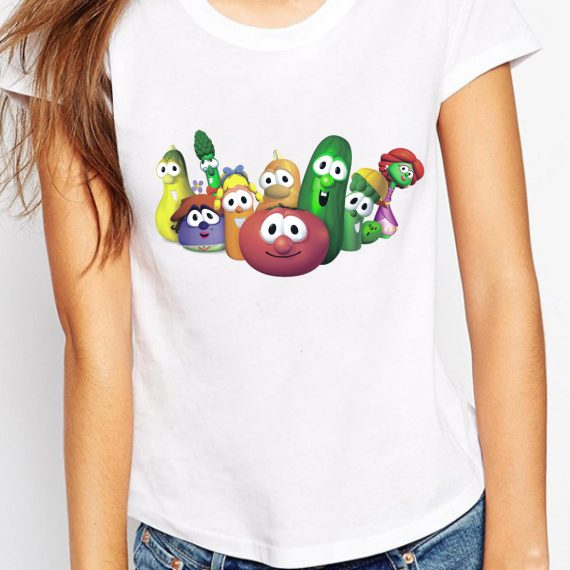 Veggietales Tricou Alb Femeie