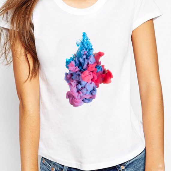 Abstract Art Tricou Alb Femeie