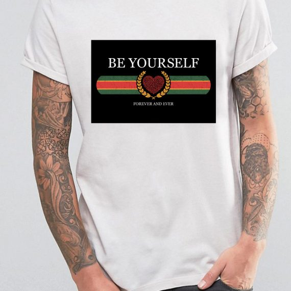 Be Yourself Tricou Alb Barbat