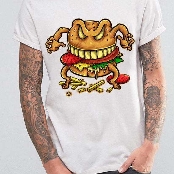 Curse Of The Burger Tricou Alb Barbat