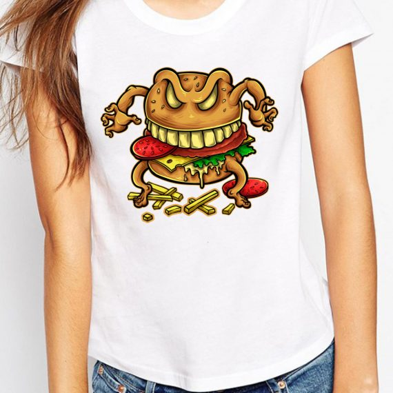 Curse Of The Burger Tricou Alb Femeie
