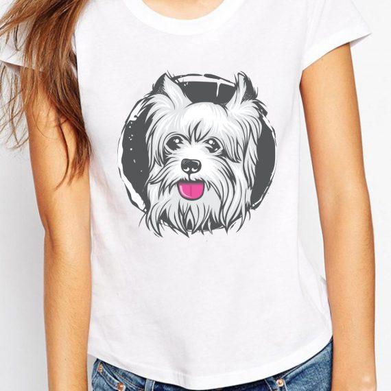 Cute Puppy Tricou Alb Femeie