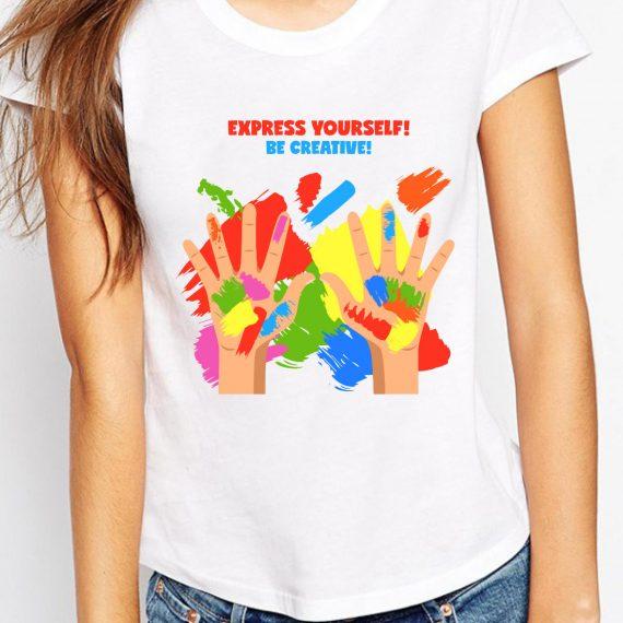 Express Yourself Tricou Alb Femeie