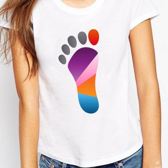 Foot Tricou Alb Femeie