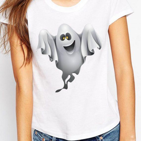 Ghost Tricou Alb Femeie