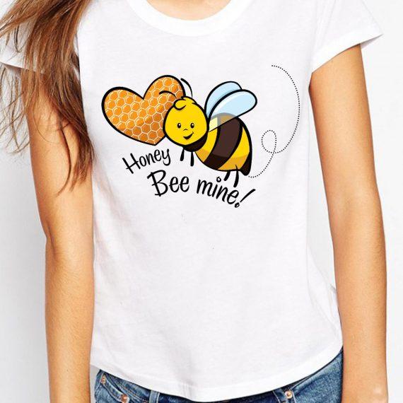 Honey Bee Mine Tricou Alb Femeie
