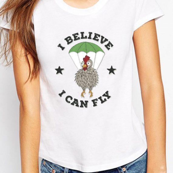 I Believe I Can Fly Tricou Alb Femeie