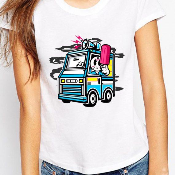 Ice Cream Truck Tricou Alb Femeie