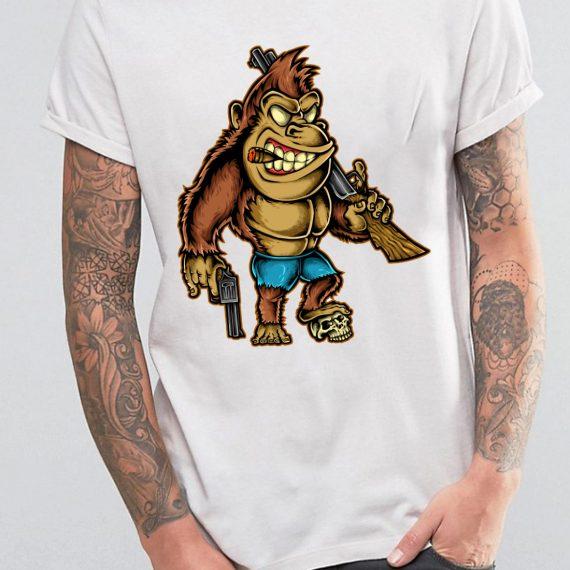 Killer Kong Tricou Alb Barbat