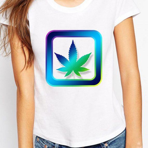 Legalize Tricou Alb Femeie