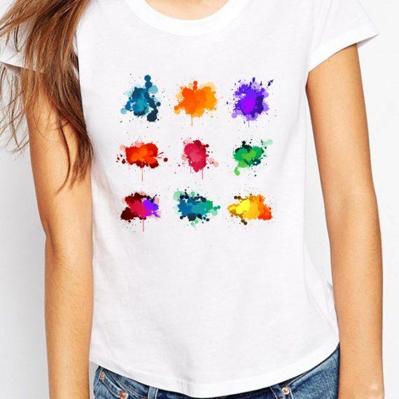 Many Colors Tricou Alb Femeie