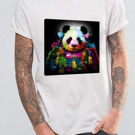 Panda Samourai Tricou Alb Barbat