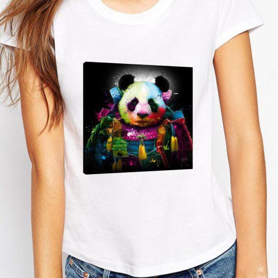 Panda Samourai Tricou Alb Femeie