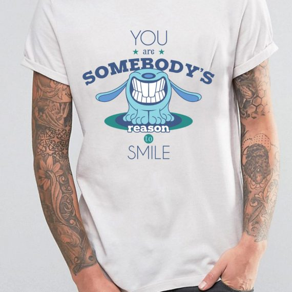 Reason To Smile Tricou Alb Barbat