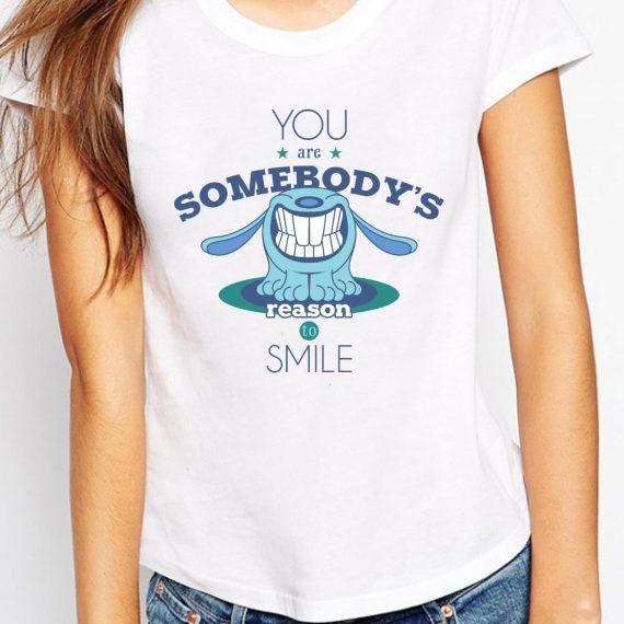 Reason To Smile Tricou Alb Femeie