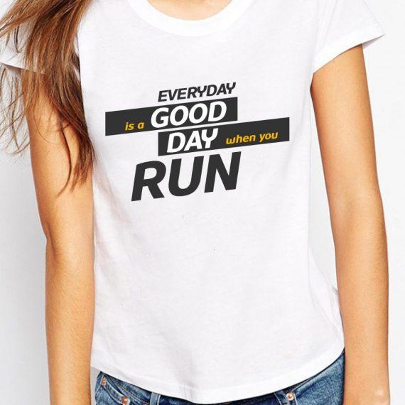 Running Day Tricou Alb Femeie