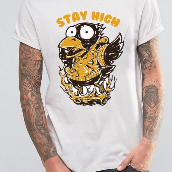 Stay High Tricou Alb Barbat
