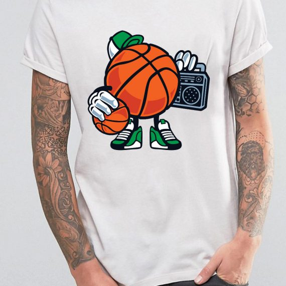 Street Basketball Tricou Alb Barbat