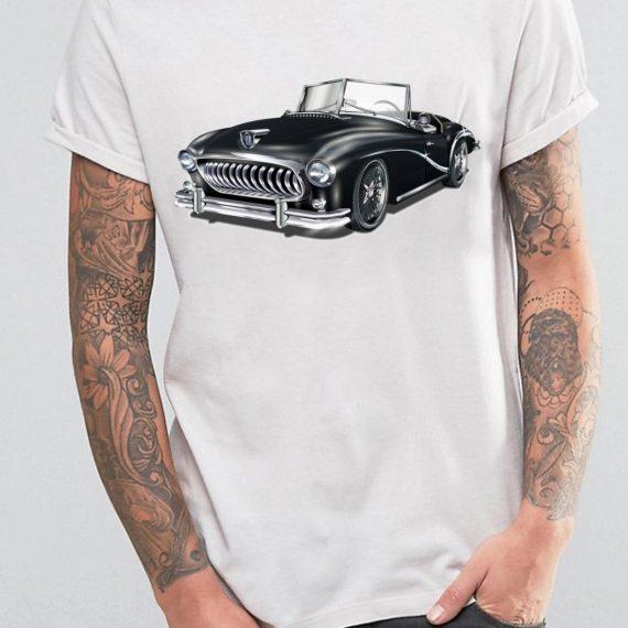 Vintage Car Tricou Barbat Alb