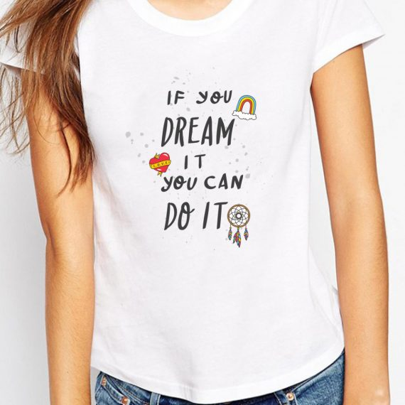 You Can Do It Tricou Alb Femeie