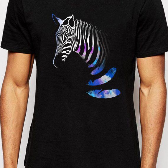 Zebra Tricou Negru Barbat