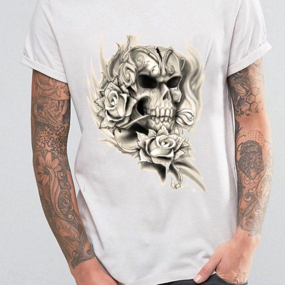 barbat-skull-roses