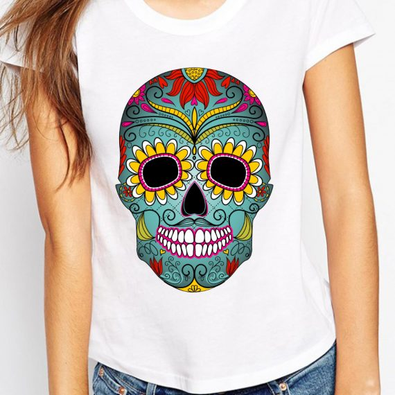 femeie-skull-multicolour
