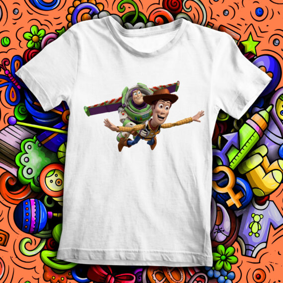 Tricou copil – Buzz Fulgerul si Seriful Woody